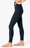 Out of pocket high waisted midi leggings in nocturnal navy