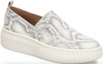 Potina white/light grey snake slip-on sneakers