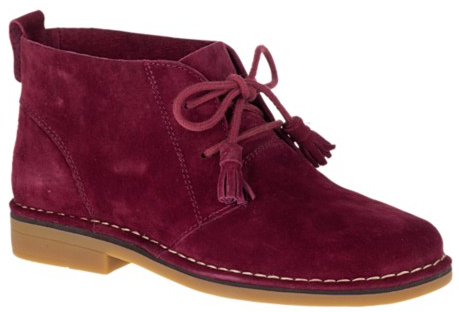 Cyra Catelyn WorryFree Suede® Boots in Burgundy