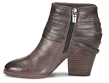 Lander italian leather booties in grey
