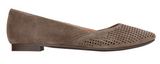 Gem posey pointy toe flats in taupe