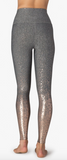 Alloy ombre high waisted midi legging in grey w/rose gold speckle