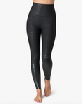 Alloy ombre high waisted midi legging in black foil speckle