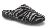 Gemma mule slipper in grey zebra