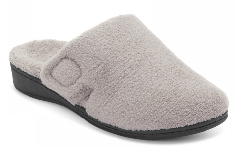 Gemma mule slipper in light grey