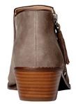 Serena greige weather resistant ankle boots