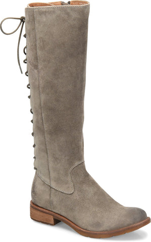 Sharnell II grey suede adjustable calf tall boots