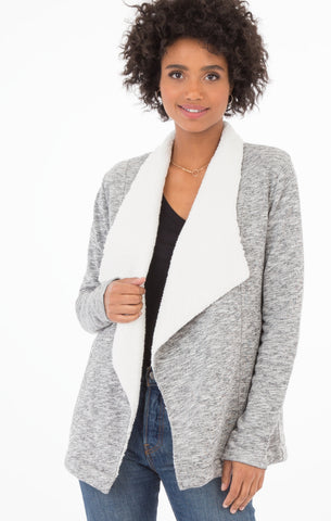 Cozy sherpa sweater cardigan