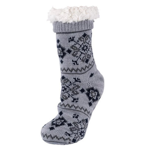 Slipper socks in grey