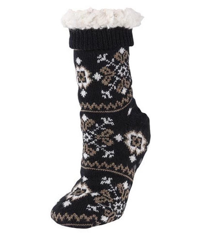Slipper socks in black