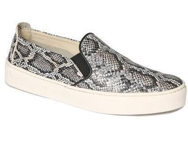 Sneak name slip-on sneakers in stone snake
