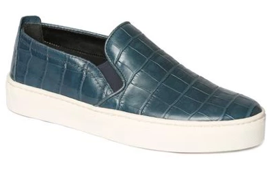 Sneak name slip-on sneakers in petrolio cocco teal