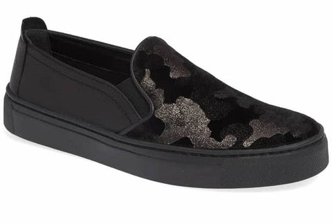 Sneak name slip-on sneakers in black camo