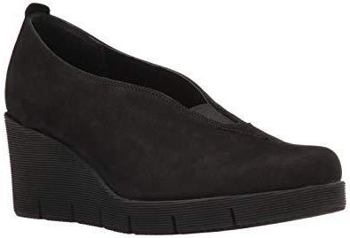 Spadework Black Suede Wedges