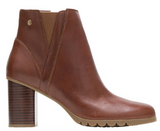 Spaniel dachshund brown ankle booties