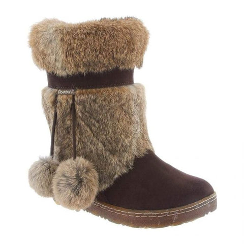 Tama fur trim boots in Brown