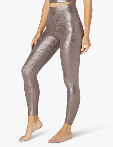 Viper high waisted midi leggings in mocha