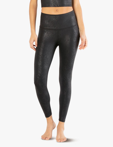 Viper high waisted midi leggings in black