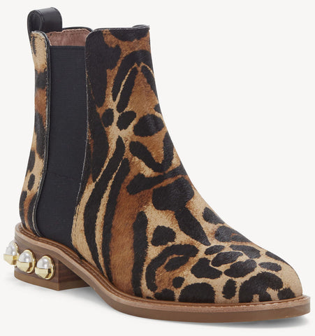 Valtina chelsea bootie in animal print