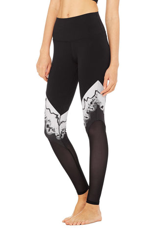 High waisted verse legging in black zinc
