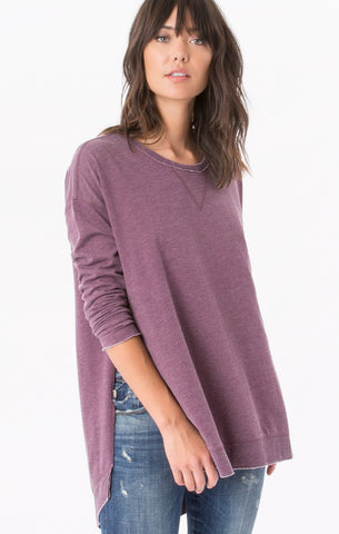 Weekender long sleeve top in wine
