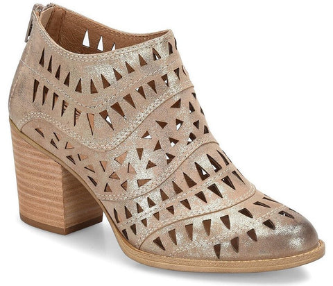 Westwood laser-cut bootie in metallic