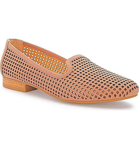 Yale Rose laser cut loafers