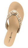 Yoga Lynne neutral wedge flip flops