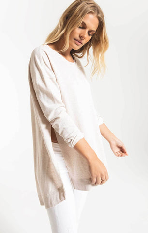 Weekender long sleeve top in oatmeal