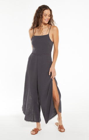 Wayfarer gauze jumpsuit in washed black