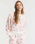 Kissed pajama set in dessert white