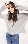Kacey feather hoodie in heather grey