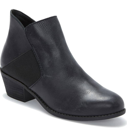 Zada black ankle booties