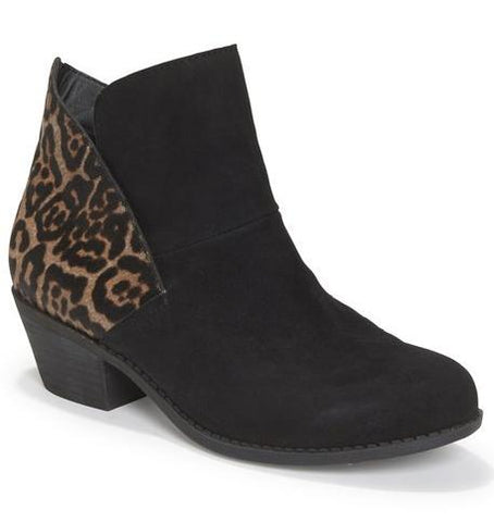 Zena black/jaguar ankle booties