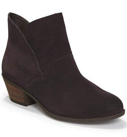 Zena dark ruby ankle booties