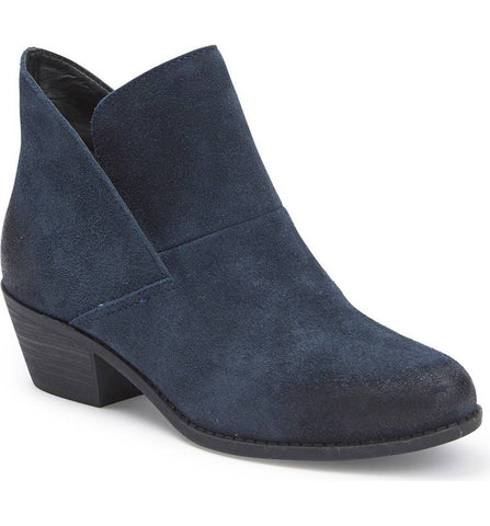 Zena navy suede ankle booties