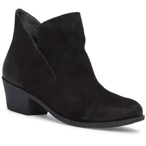 Zena black suede ankle booties