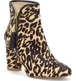 Zirelle tassel zip booties in leopard