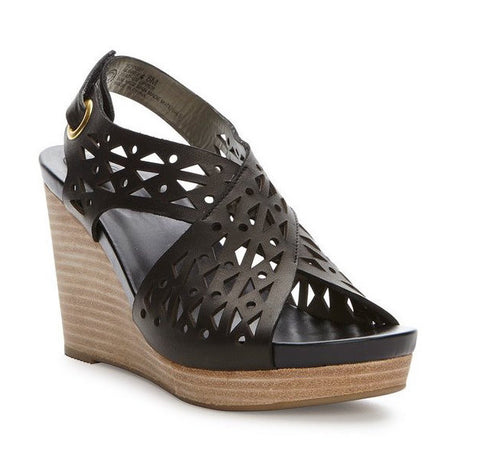 Aubree Black laser cut lightweight wedges