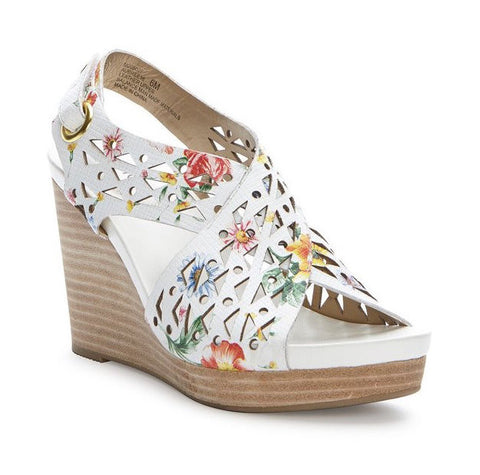 Aubree floral laser cut lightweight wedges