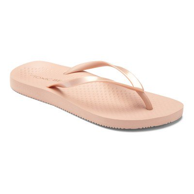 Beach Noosa rose gold flip flops