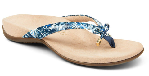 Bella blue palm sandals
