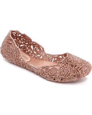 Campana fitas glittery ballet flats in rose gold