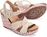 Casidy wedge sandals in grey moonstone