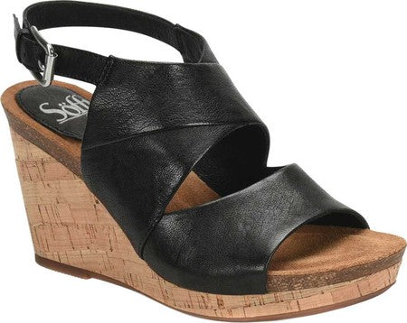 Corrina wedge sandals in black