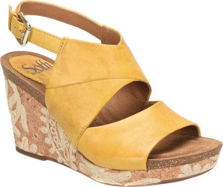 Corrina wedge sandals in yellow