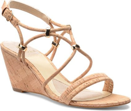 Farah wedges in natural cork