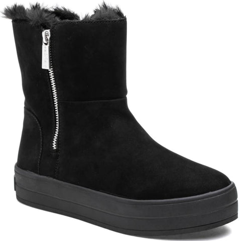 Henley waterproof black nubuck booties