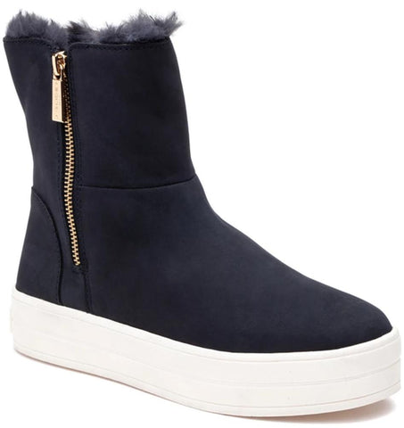 Henley waterproof navy nubuck booties