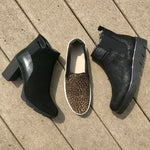 Out n about black block heel booties